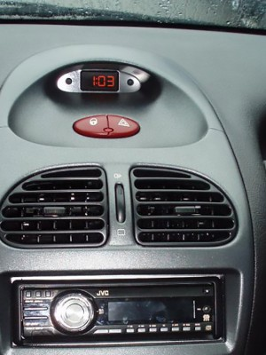 PEUGEOT 206 CENTER TOP DISPLAY COVER - Quality interior & exterior steel car accessories and auto parts