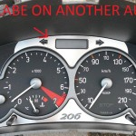 PEUGEOT 206 BELOW TACHOMETER COVER - Quality interior & exterior steel car accessories and auto parts