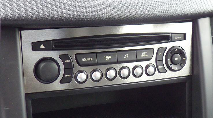 PEUGEOT 207 RADIO CONSOLE COVER - Quality interior & exterior steel car accessories and auto parts