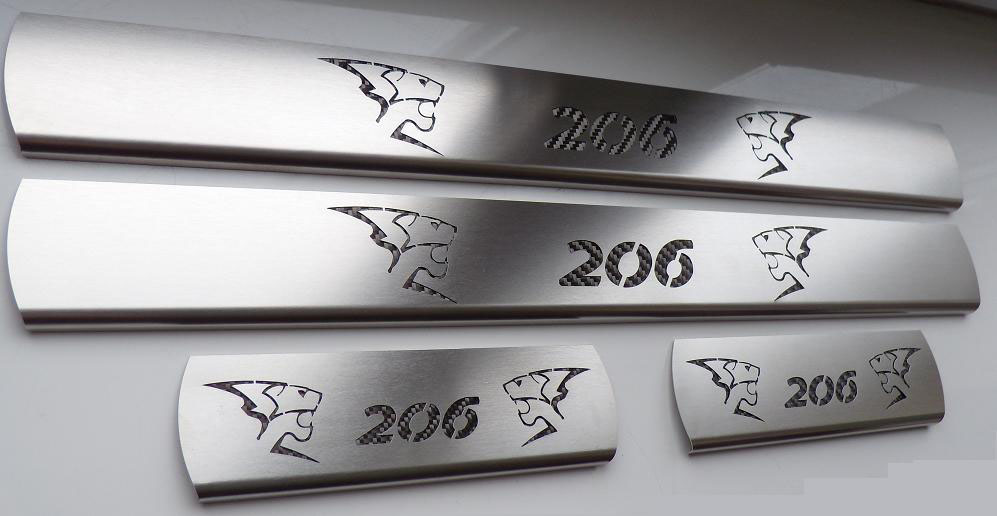 PEUGEOT 206 DOOR SILLS - Quality interior & exterior steel car accessories and auto parts