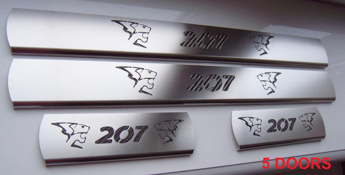 PEUGEOT 207 DOOR SILLS - Quality interior & exterior steel car accessories and auto parts