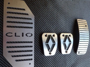 RENAULT CLIO III PEDALS AND FOOTREST - Quality interior & exterior steel car accessories and auto parts