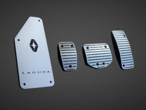 RENAULT LAGUNA III PEDALS AND FOOTREST - Quality interior & exterior steel car accessories and auto parts