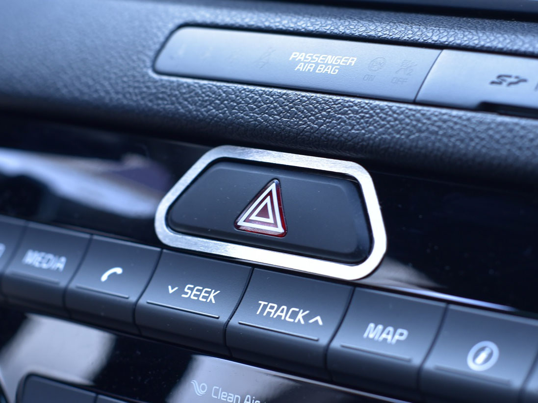 KIA SPORTAGE HAZARD LIGHTS BUTTON COVER - Quality interior & exterior steel car accessories and auto parts
