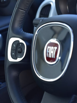 FIAT 500 L STEERING WHEEL CONTROLS COVER - Quality interior & exterior steel car accessories and auto parts