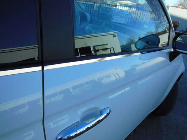 FIAT 500 STRIP ABOVE DOORS COVER - Quality interior & exterior steel car accessories and auto parts