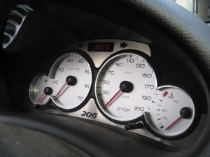 PEUGEOT 206 ABOVE TACHOMETER COVER - Quality interior & exterior steel car accessories and auto parts