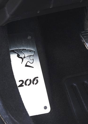 PEUGEOT 206 FOOTREST - Quality interior & exterior steel car accessories and auto parts