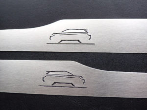 RANGE ROVER EVOQUE REAR DOOR SILLS - Quality interior & exterior steel car accessories and auto parts