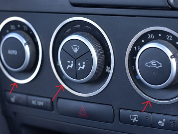 SAAB 9-3 II CLIMATE CONTROL ADJUSTS COVER - Quality interior & exterior steel car accessories and auto parts
