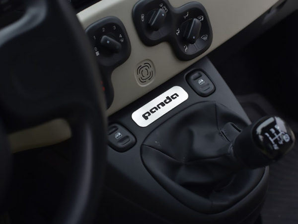FIAT PANDA III CENTER CONSOLE EMBLEM COVER - Quality interior & exterior steel car accessories and auto parts
