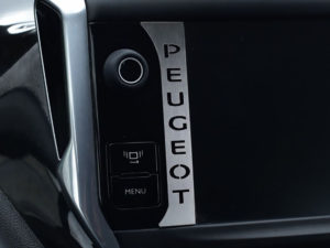 PEUGEOT 208 2008 CONSOLE EMBLEM COVER - Quality interior & exterior steel car accessories and auto parts