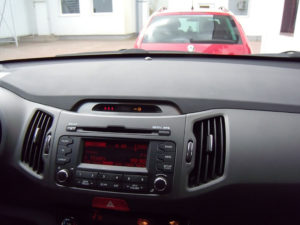 KIA SPORTAGE CENTER TOP DISPLAY COVER - Quality interior & exterior steel car accessories and auto parts